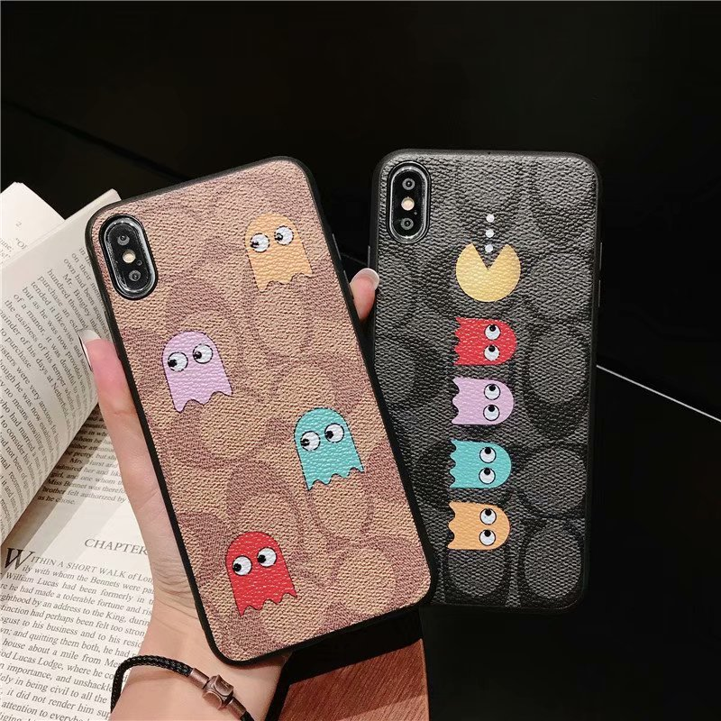 コーチ パックマン Pac-Man  iPhone6/6s, iPhone6/6s plus,iPhone7/8, iPhone7/8 plus,iPhone X,iPhone XS Max,iPhone XR ,iPhone XS ケース