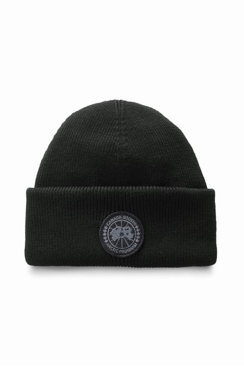 カナダグース メンズ キャップ Canada Goose Men's Thermal Toque Black Label Black