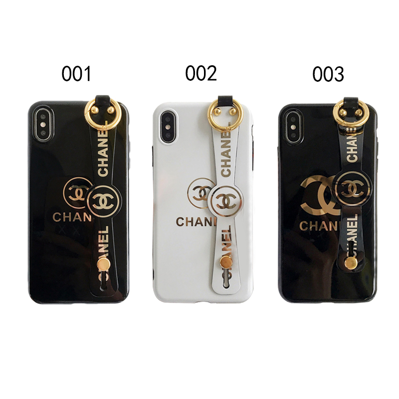 CHANEL(シャネル) ロゴ iPhone XS Max、XS、XR、X、7/8、7/8 Plus、6/6s、6/6s Plus ケース 3色