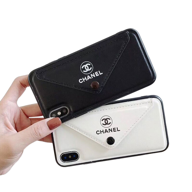 CHANEL(シャネル) iPhone XS Max、XS、XR、X、7/8、7/8 Plus、6/6s、6/6s Plus ロゴ ケース 2色
