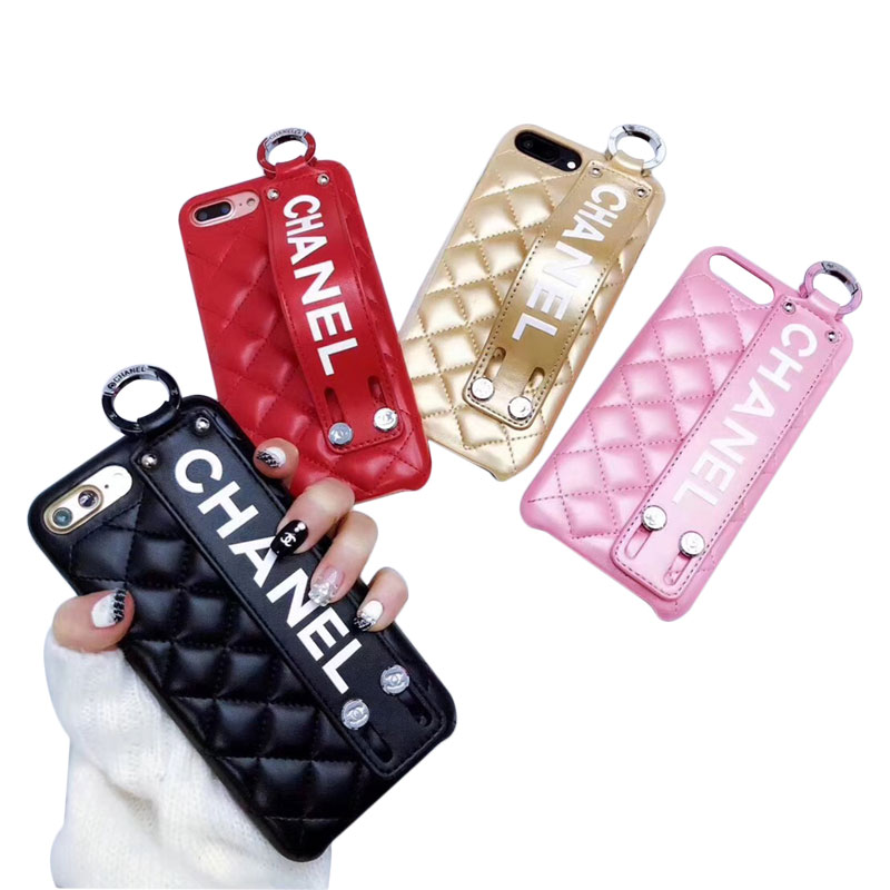 CHANEL(シャネル) ロゴ iPhone XS Max、XS、XR、X、7/8、7/8 Plus、6/6s、6/6s Plus ケース 4色