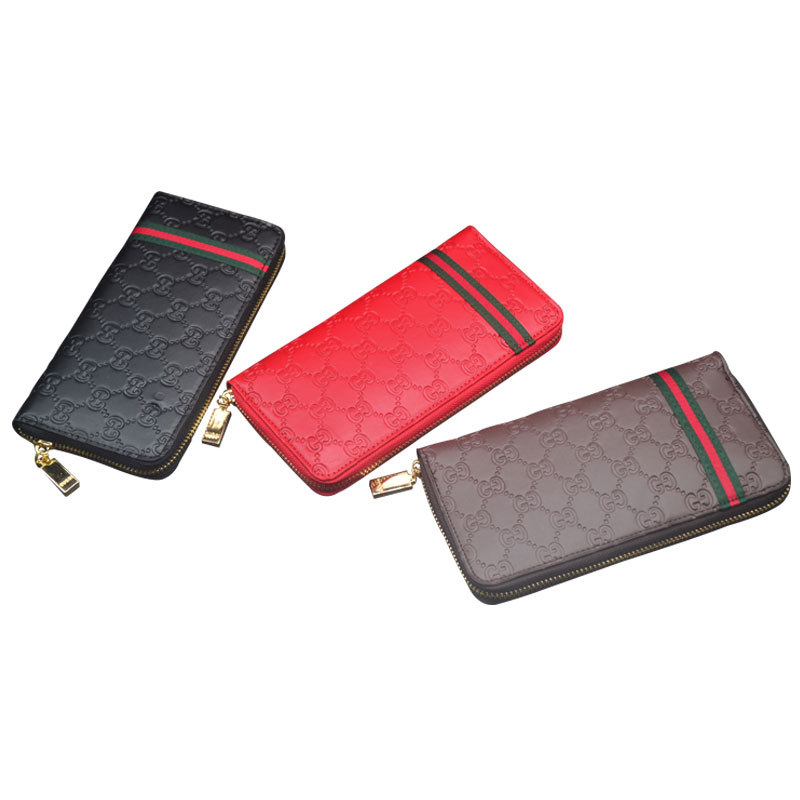 GUCCI Logo zipper long wallet 3 colors