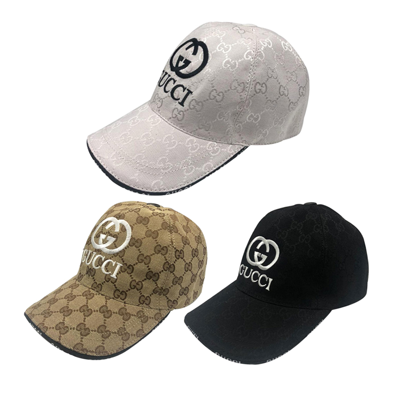 GUCCI Logo embroidered canvas baseball hat 3 colors