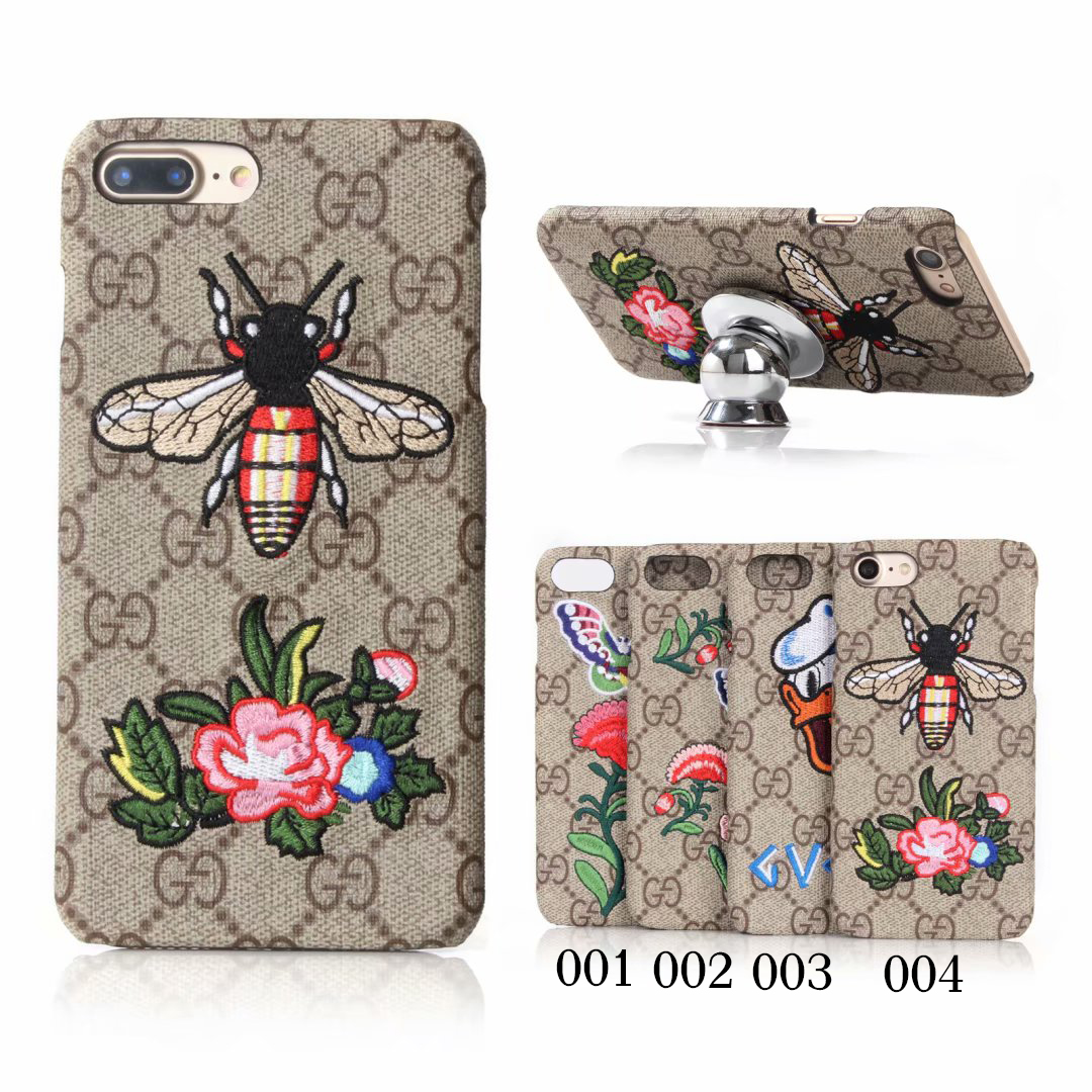 GUCCI(グッチ) iPhone XS Max、XS、XR、X、7/8、7/8 Plus、6/6s、6/6s Plus ケース 4色
