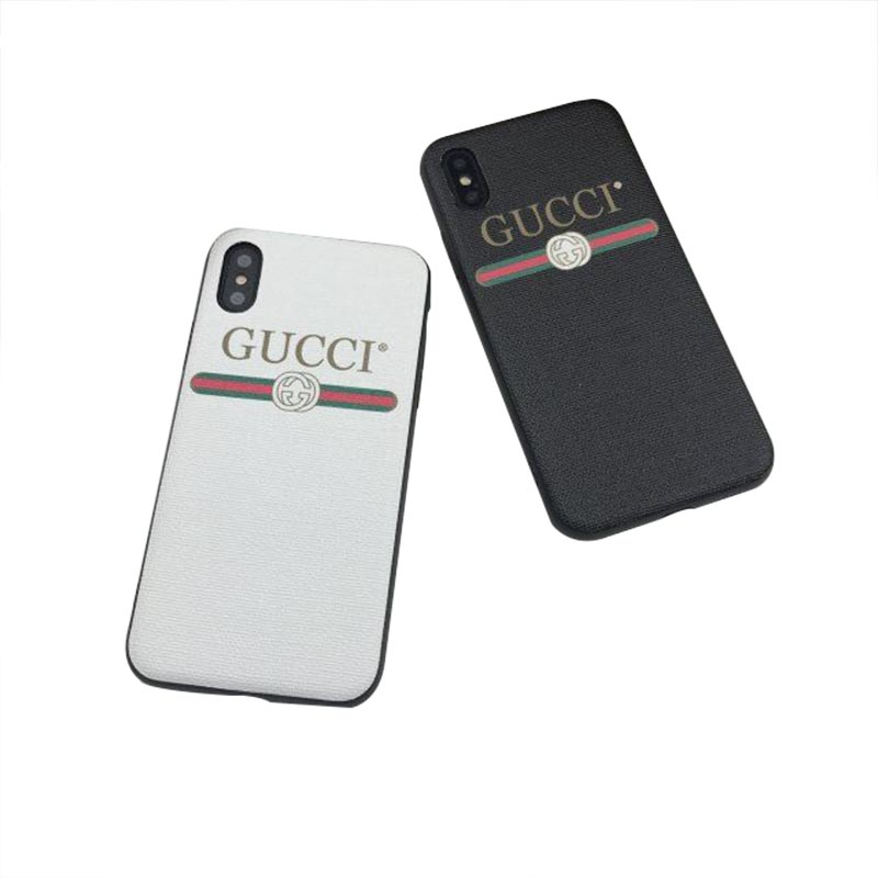 GUCCI(グッチ) iPhone XS Max、XS、XR、X、7/8、7/8 Plus、6/6s、6/6s Plus ケース 2色