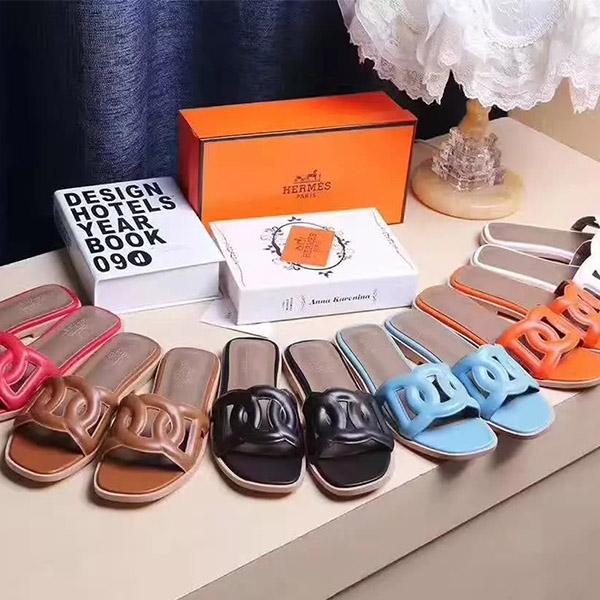 2017 Hermes Classic Ladies Slippers 6 Color