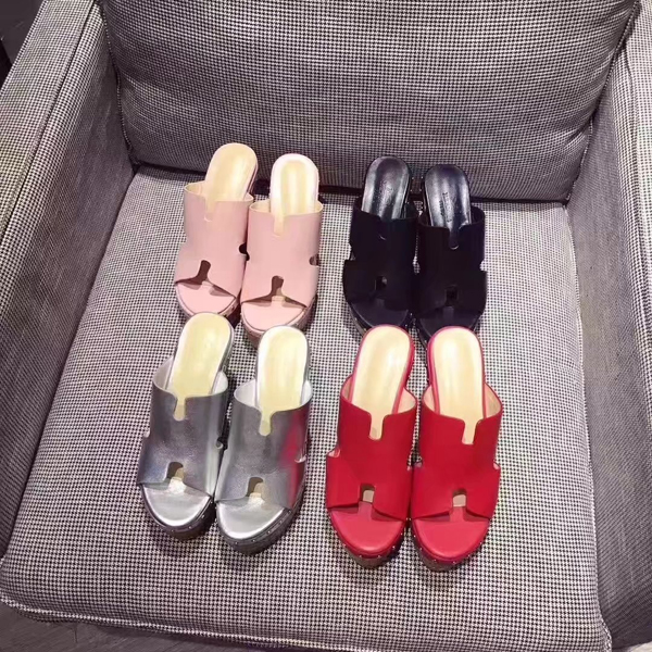 17SS Hermes Classic Ladies Slippers  6 Color
