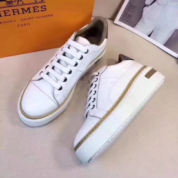 17FW Hermes Ladies Nude shoes white