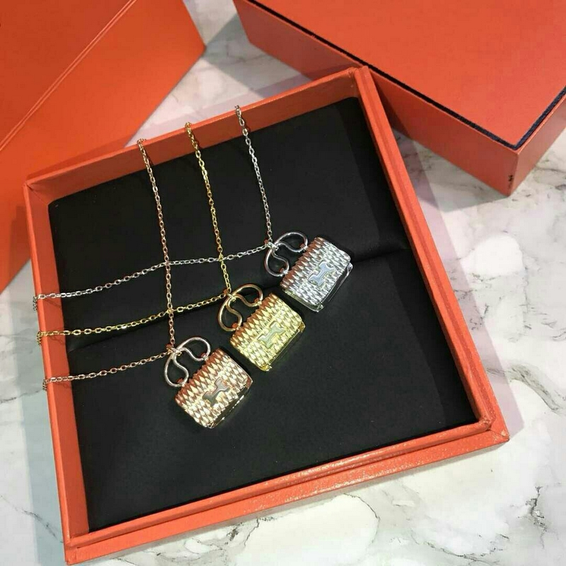 Hermes Kelly Handbag Necklace Pendant Necklace 3 Color
