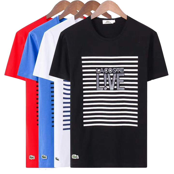 Lacoste (ラコステ) メンズ Live Striped Tシャツ 4色