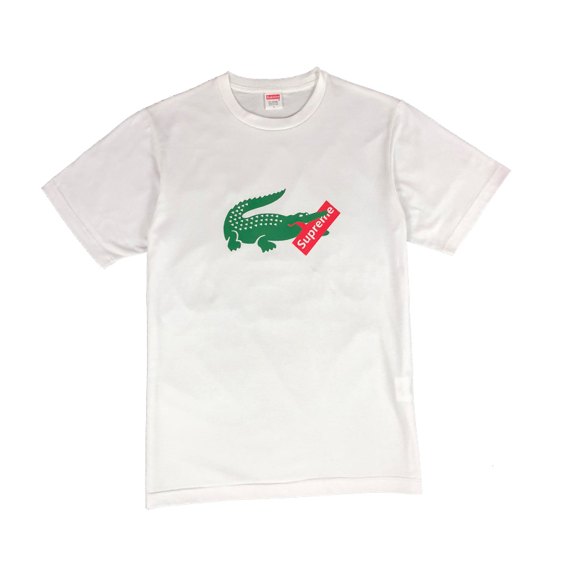Lacoste X Supreme Chest Printed Tシャツ ホワイト