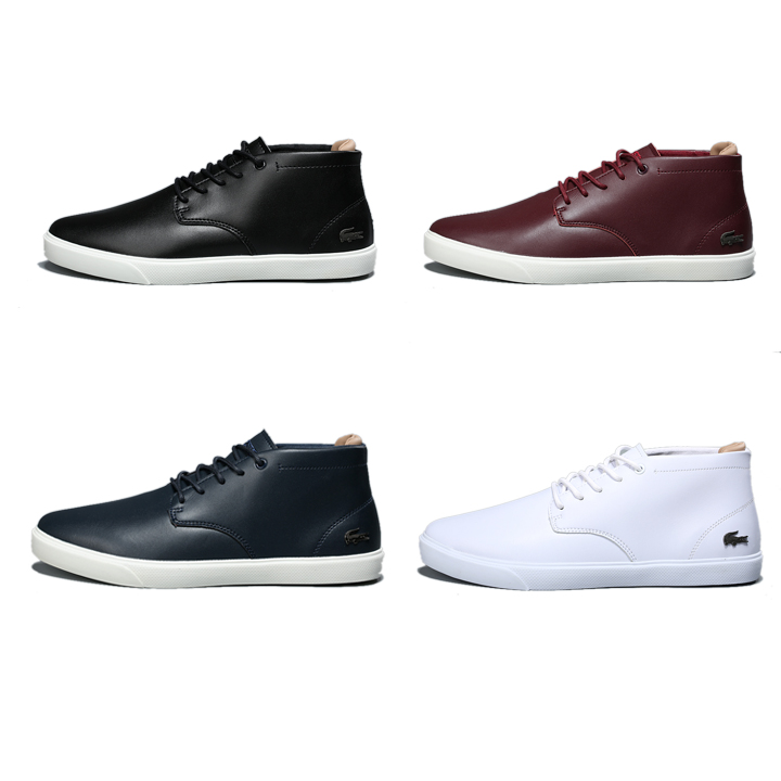 Lacoste (ラコステ) メンズ Leather Mid Sneakers 4色