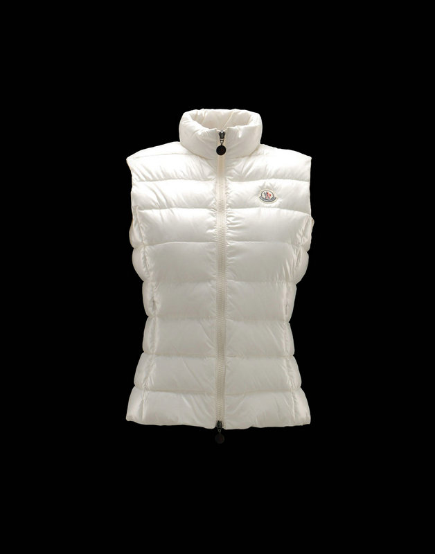 Women Moncler Vests Ghany Ivory