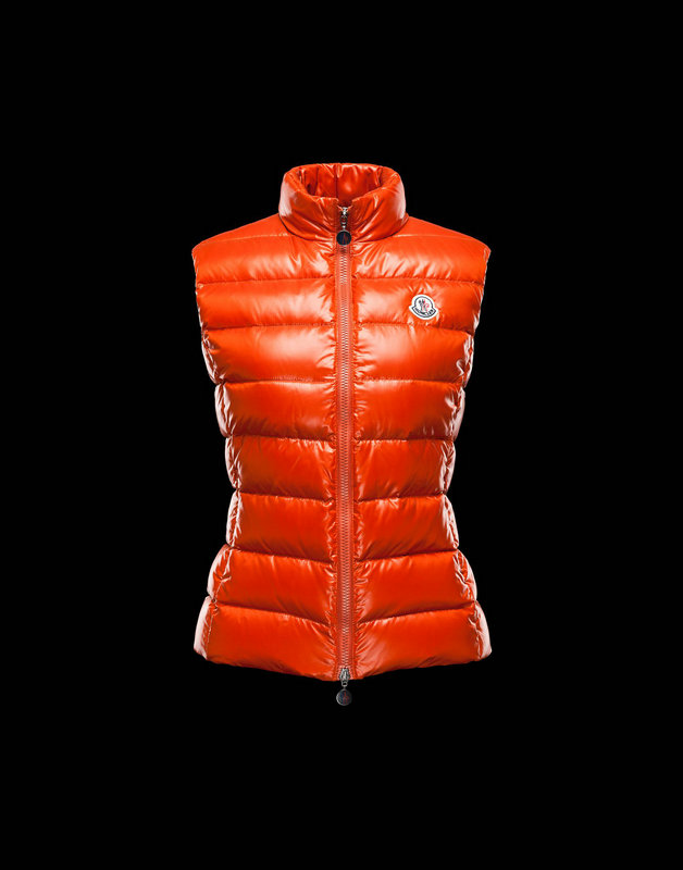 Women Moncler Vests Ghany Rust