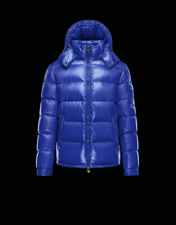 Men Moncler Down Jackets Maya Pastel Blue