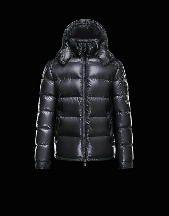 Men Moncler Down Jackets Maya Matte Black