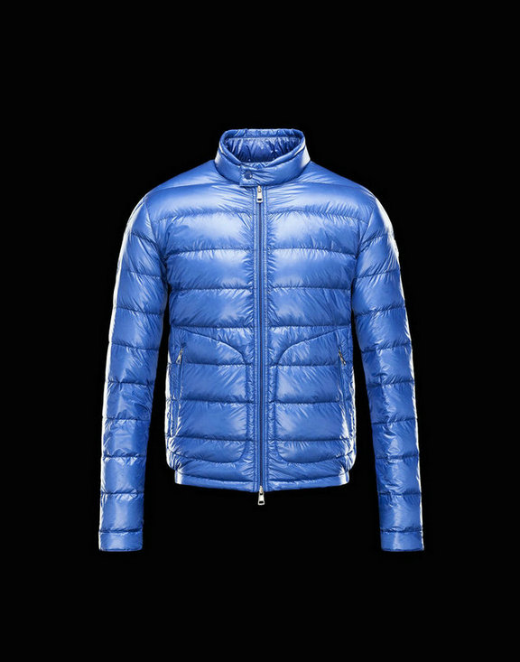 Men Moncler Down Jackets Acorus Bright Blue