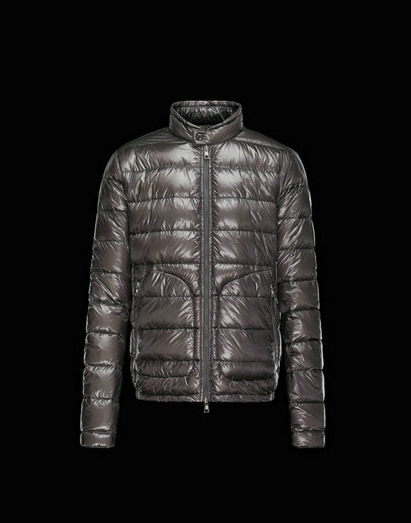 Men Moncler Down Jackets Acorus Steel Grey