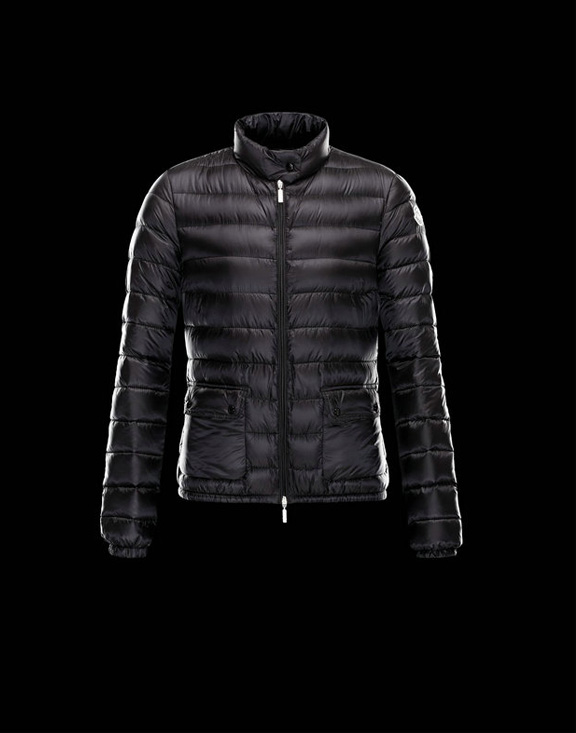 Women Moncler Down Jackets Lans Black