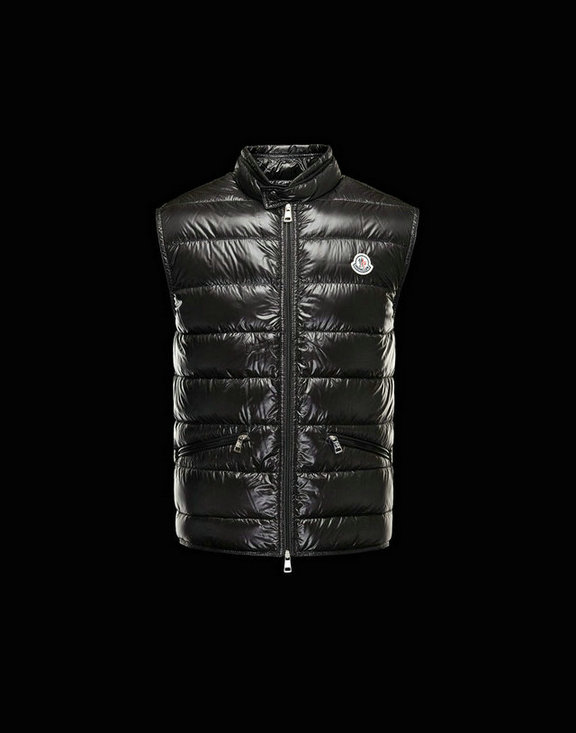 Men Moncler Vests Gui Black