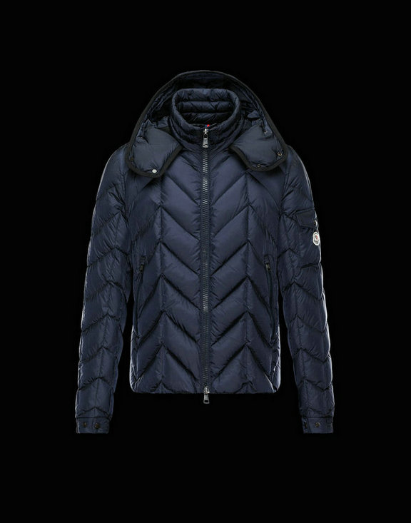 Men Moncler Down Jackets Berriat Dark Blue