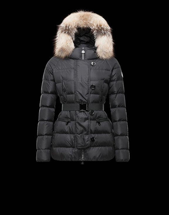 Women Moncler Down Jackets Genette Black