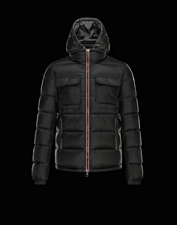 Men Moncler Down Jackets Morain Black