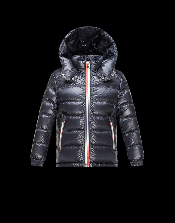 Moncler Kids Down Jackets Gaston Dark Blue