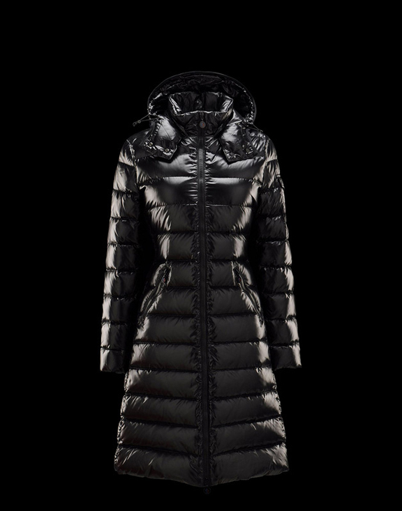 Women Moncler Long Down Jackets Moka Black
