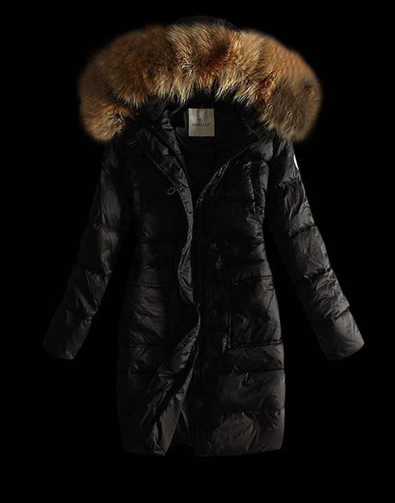 Women Moncler Long Down Jackets Black