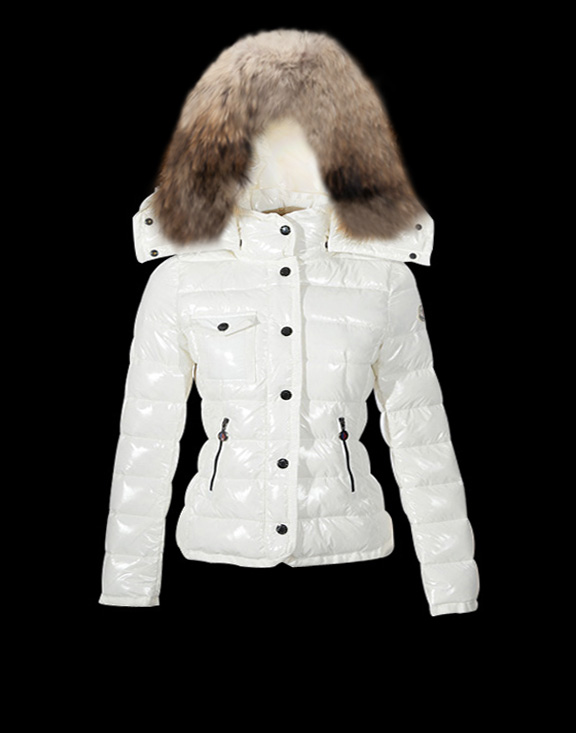 Women Moncler Down Jackets Armoise White