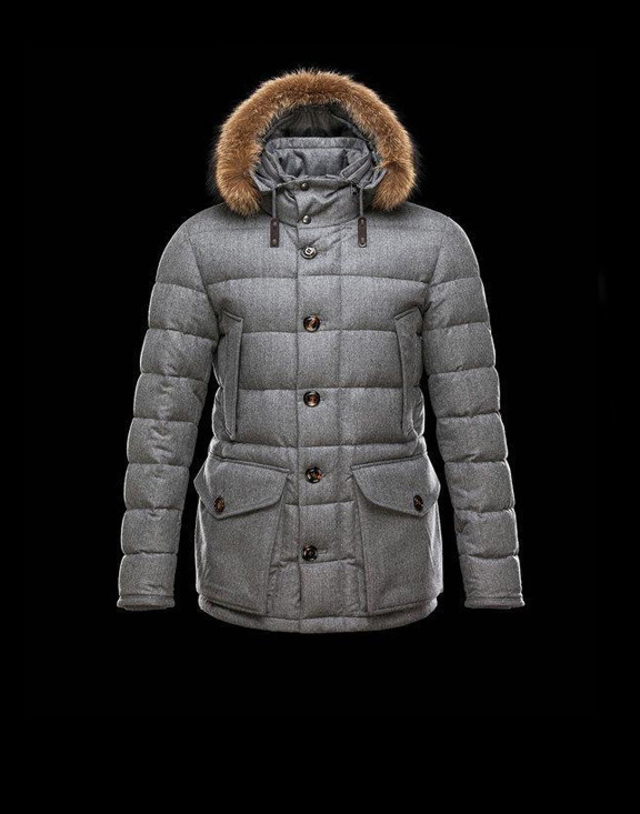 Men Moncler Jackets & Coats Rethel Grey