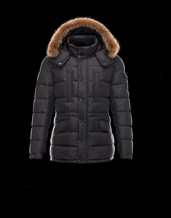 Men Moncler Down Jackets Cluny Black
