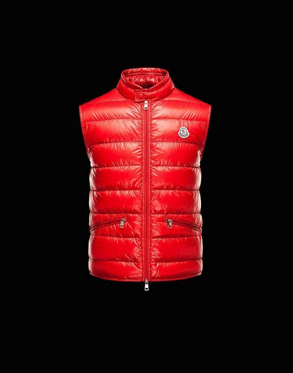 Men Moncler Vests Gui Red