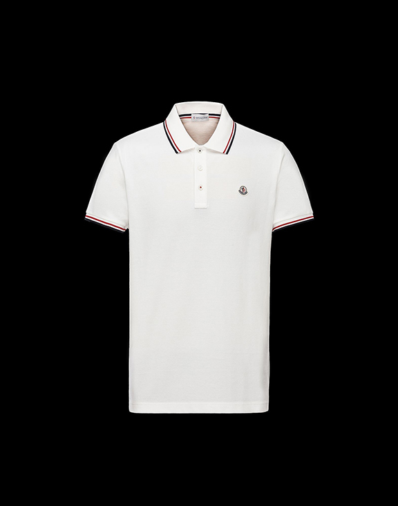 Men Moncler Polo Shirt White