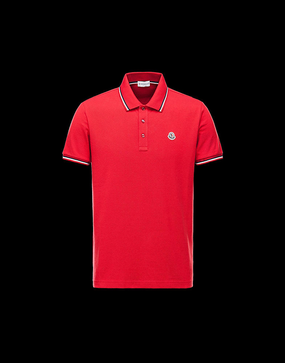 Men Moncler Polo Shirt Red
