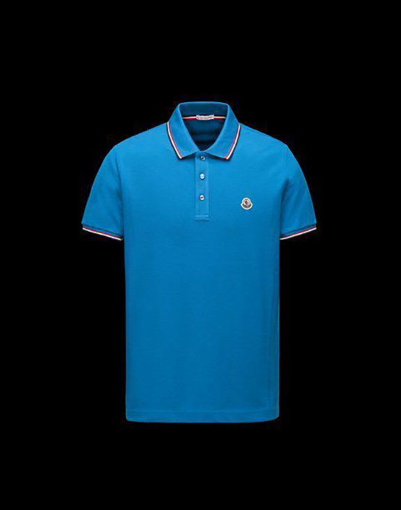 Men Moncler Polo Shirt Blue