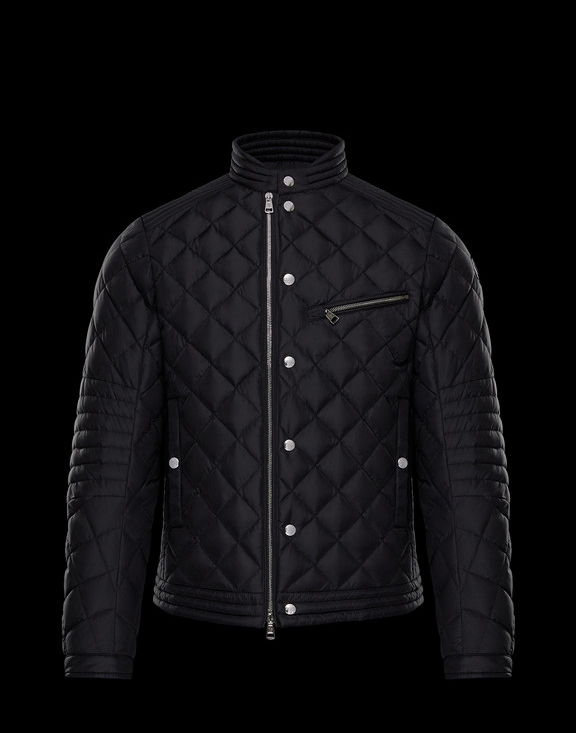 Men Moncler Down Jackets FRED Black