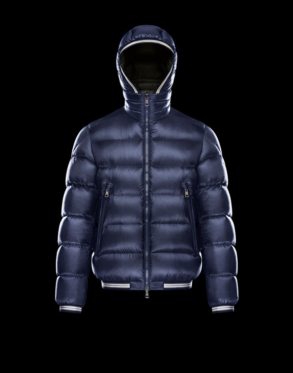 Men Moncler Down Jackets JEANBART Dark Blue