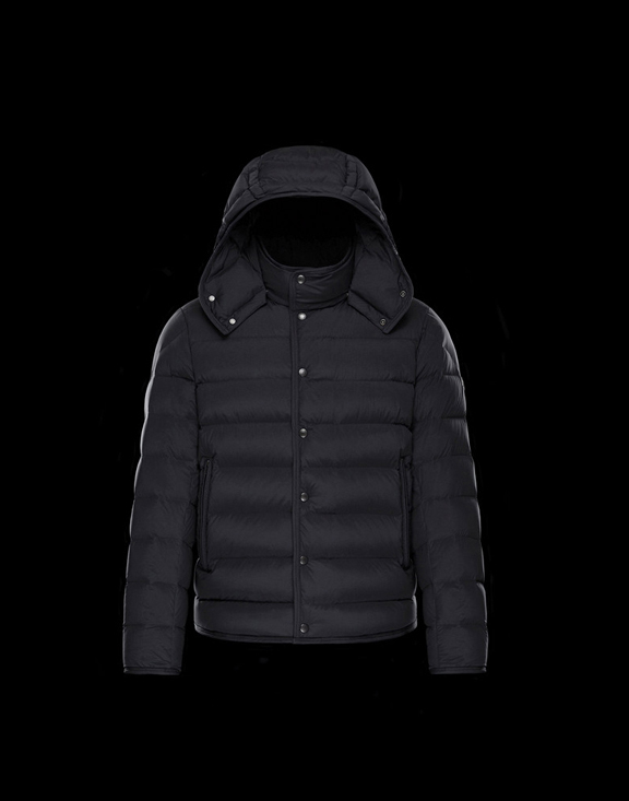 Men Moncler Down Jackets NAZAIRE Black