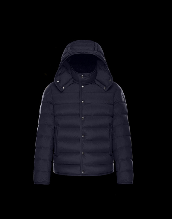 Men Moncler Down Jackets NAZAIRE Dark Blue