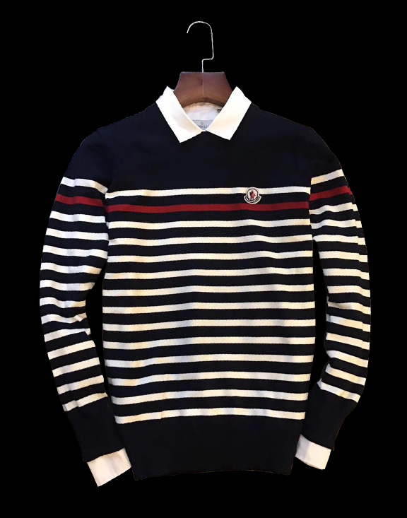 Men Moncler Striped Sweater Black/White