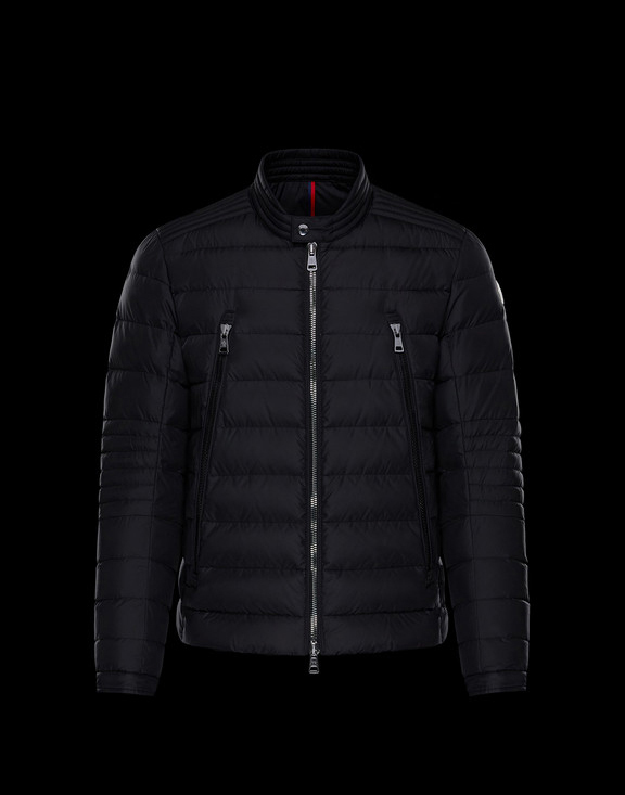 Men Moncler Down Jackets Amiot Black