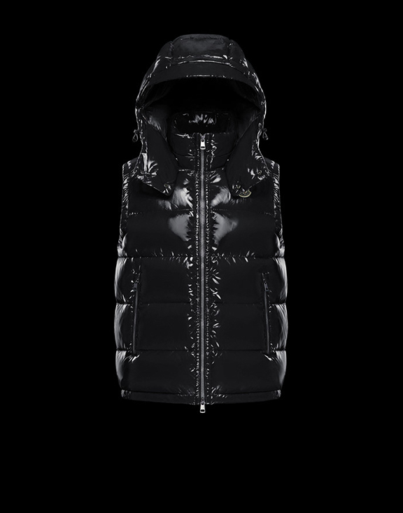 Men Moncler Vests Lacet Black