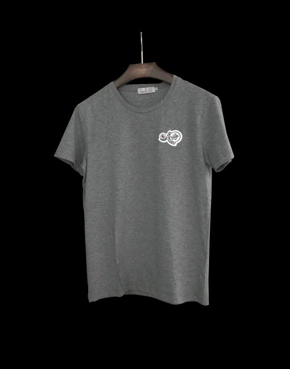 Men Moncler T-Shirt Gray