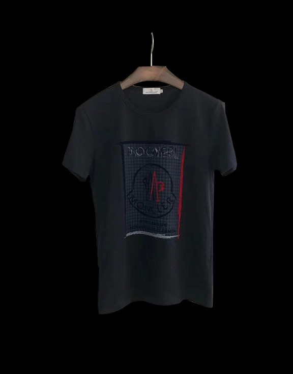 Men Moncler T-Shirt Black