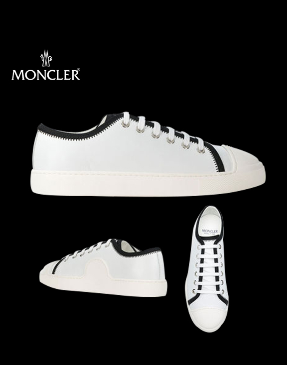 18SS Moncler Lace Up Sneakers White for Women Girls