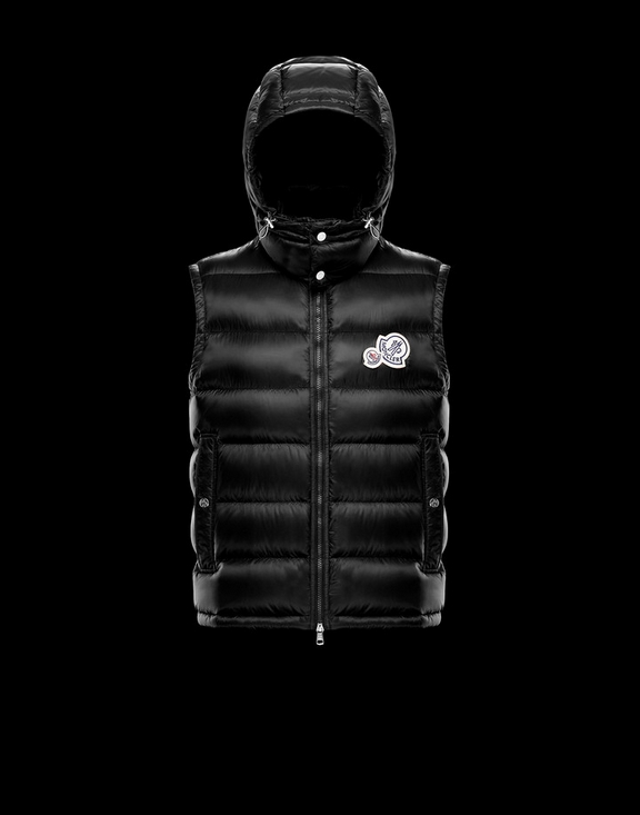 Men Moncler Vest Gers Black