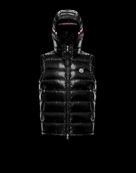Men Moncler Vest Lanoux Black