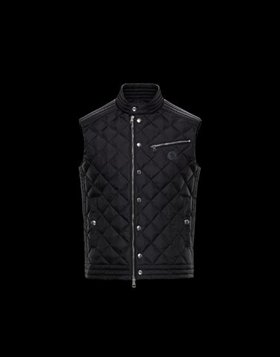 Men Moncler Vest Roy Black
